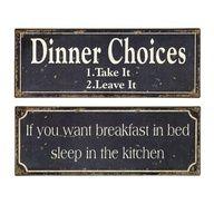 Cute Breakfast  Dinner Signs. :-)