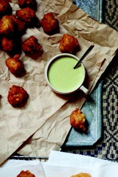 Corn Fritters With Green Chile Buttermilk Dip from Amy Thielen's The New Midwestern Table; posted on www.food.com