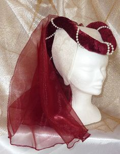 Renaissance Hat, Medieval Hats, Medieval Costume, Renaissance Clothing, Medieval Fashion, Medieval Dress, Historical Costume, Historical Clothing, Headdress