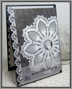 """Mix It Up Challenge... by Ashdale - Cards and Paper Crafts at Splitcoaststampers **** Stamp set: SU """"Hello Doily"""""""