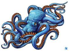 Осьминоги – тату эскизы • Идеи татуировок с осьминогами и кальмарами • Осьминог – значение тату