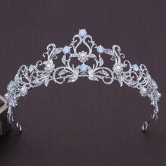 Cute Jewelry, Hair Jewelry, Wedding Jewelry, Fashion Jewelry, Jewellery Box, Crystal Crown, Crystal Rhinestone, Silver Bridal Crowns, Blue Bridal