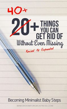One of the best ways to explore becoming minimalist is to first purge the obvious excess and see how you feel. It can be daunting to think of trying to go through all your stuff to figure out what you really need, but it's a lot easier to start with what you really don't need. Here's a cheat list of some of the most common duplicates and random things you rarely use that you can get rid of without even missing.