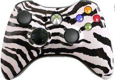 Custom Xbox 360 Controller With White Zebra Shell Brand NEW Xbox Controller | eBay