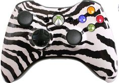 Custom Xbox 360 Controller With White Zebra Shell Brand NEW Xbox Controller | eBay