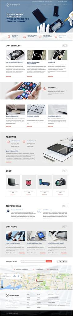 Phone #repair is a perfect #Muse template for #entrepreneurs working in the field of electronics repair services, and is ideal for smart phone, mobile device, computer and appliance repair shops website Download Now➯ https://themeforest.net/item/phone-repair-multipage-muse-template/17239317?ref=Datasata