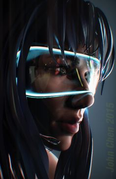 Major, John Chen on ArtStation at https://www.artstation.com/artwork/EYnZv Motoko Kusanagi Ghost in the Shell GitS