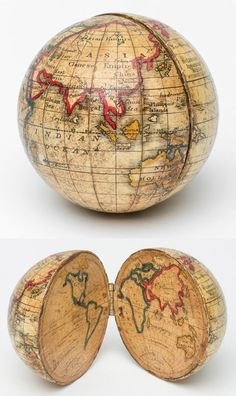 """mapsontheweb: """"An Opening Pocket Globe, made by Holbrook Apparatus Manufacturing Co. World Globe Map, Globe Art, World Globes, Map Globe, Globe Decor, Old Maps, Antique Maps, Vintage Maps, Map Crafts"""