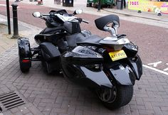 I couldn't resist getting a couple of shots of this unusual mode of transport parked on Cheapside today. Apparently, it's a BRP Can-Am Spyder, it's made in Canada and has a layout similar to that of a snowmobile.   Check out  Great Prices on quality Can Am Tire Pressure Monitoring Systems
