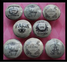 NEW Vintage Drawer Knobs Pulls Paris France by Pinksugarcouture, $39.00