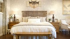 """If you are wanting to create the look of """"old brick"""", this video is for you! This faux brick wall was created using brick paneling from the home improvement ..."""