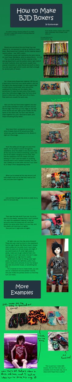 How to Make BJD Boxer Shorts by RodianAngel