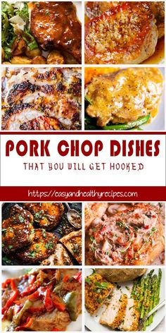 30 Pork Chop Recipes To Vary Your Dinner – Yummy – Best Ideas for Dinner Pork Chop Dishes, Pork Chop Recipes, Meat Recipes, Dinner Recipes, Cooking Recipes, Healthy Recipes, Recipies, Chops Recipe, Pork Chops