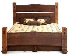 Barn wood furniture made for you. The Barnwood Furniture Collection is made from salvaged wood taken from Barns across the USA. Rustic Bedroom Furniture, Rustic Bedding, Log Furniture, Diy Bett, Cabin Design, Wood Bed Design, Wood Beds, Headboards For Beds, Barn Wood