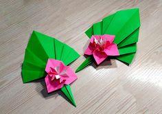 Easy Paper flower. Ideas for Christmas decor. Origami modular flower