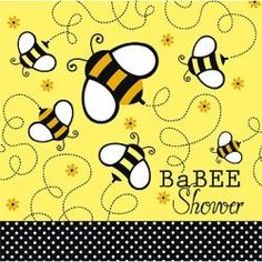 If you are planning a Baby Shower in the Springtime, this is the perfect theme, it has a modern black and yellow honeycomb design with polka dot...