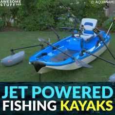 Best Fishing Kayaks: The Jet Powered Fishing Kayak! - best kayak: Jet Powered Fishing Kayak JetANGLER by Aquanami is a revolutionary new jet powered fish - Kayak Fishing Gear, Fishing Boots, Fishing 101, Fishing Videos, Sport Fishing, Ice Fishing, Fishing Tackle, Fishing Lures, Walleye Fishing
