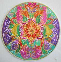 mandala art Balanced Heart heart mandala by HeavenOnEarthSilks, $45.00