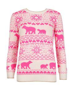 Polar bear Fair Isle jumper - Straw | Knitwear | Ted Baker SEU