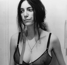 One of my role models, Patti Smith.  Thoughtful, brave, and a bit of a stunner.