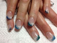 Blue and white gel. #trends#beauty#summer