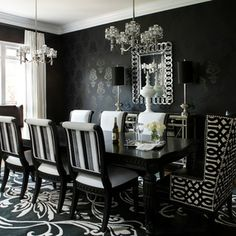 Black And White Dining Chairs Design Ideas, Pictures, Remodel, and Decor - page 5