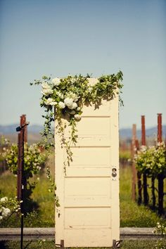Vintage Door Wedding Decor | Intimate Weddings - Small Wedding Blog - DIY Wedding Ideas for Small and Intimate Weddings - Real Small Weddings