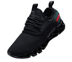 Price: (as of - Details) JointlyCreating --High quality rubber --High cushion blade sole --Comfortable breathable insoles PACKAGE INCLUED: 1 pair shoes Material Walking Tennis Shoes, Mens Walking Shoes, Running Shoes For Men, Sneakers Mode, Sneakers Fashion, All Black Sneakers, Blade Shoes, Athletic Fashion, Fashion Brand