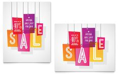 Clearance Tag Sale Poster Template Design by StockLayouts