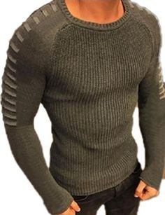 Product review for ouxiuli Men Fashion Crewneck Striped Stitching Knitwear Sweater Pullover.  Dear buyer,As different computers display colors differently, the color of the actual item may vary slightly from the above images, thanks for your understanding.This is Chinese size,Please see the size details in the following product description firstly , then choose the fittest one for...