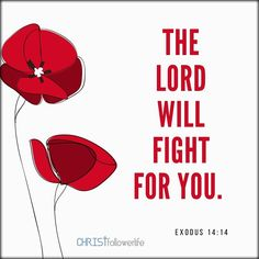 Bible Verses: the lord will fight for you. exdous 14:14
