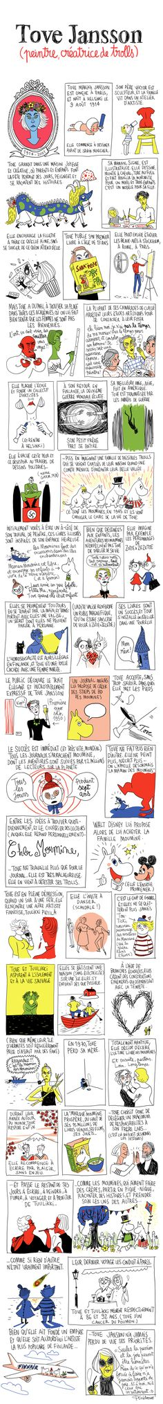Tove Jansson (peintre, créatrice de trolls) - Pénélope Bagieu, les Culottées