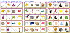 Phonologie : Chasse à l'intrus French Education, Grande Section, Articulation Activities, French Resources, Making Space, Phonological Awareness, Reading Intervention, Learning Tools, Montessori