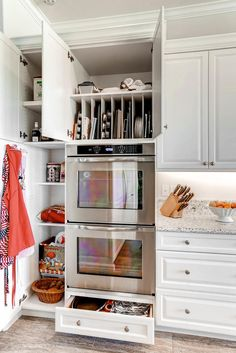 Built In Storage Dividers || Kitchen Design by Donna McMahon, KE Interior Solutions. For business inquiries: dmcm2952@gmail.com