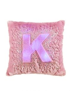 Justice Is Your One Stop Shop For On Trend Styles In Tween Girls Clothing Accessories Our OLD Light Up Initial Pillow