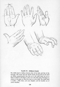 Drawing children's hands.