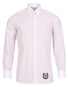 a3975660898ad5 Herrenhemd mit abgerundetem Piccadilly Kragen (Pin Collor) und  Umschlagmanschetten. Schaeffer Hemden verleihen Ihnen