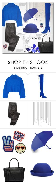 """Blue & Rain"" by hirw ❤ liked on Polyvore featuring Vika Gazinskaya, Stuart Weitzman, Splendid, LEXON, Witchery and WithChic"