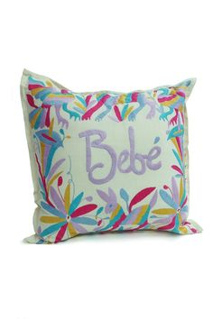 Hand Embroidered Otomi Pillow