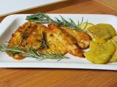 Bifes de frango com mel e mostarda