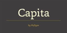 Capita is a new serif font created in 2013 by type designer Dieter Hofrichter.
