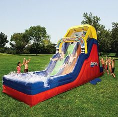 Inflatable Waterslide Water Slide Bounce House Bouncy Kids Grade Pool Summer Fun #Banzai