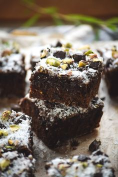Chunky Dark Chocolate Coconut & Pistachio Brownies (5)