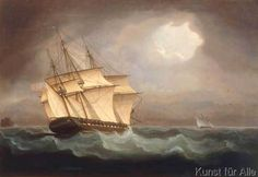 Thomas Buttersworth - British Frigate in Pursuit of a French Cutter during the Napoleonic Wars