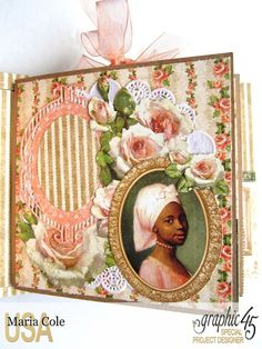 Graphic 45 Portrait of a Lady square tag & pocket album by Maria Cole.