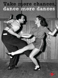 Take more chances, dance more dances #qotd #quoteoftheday #quote #dancing