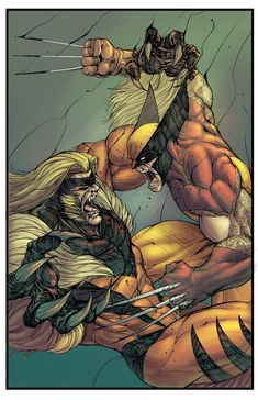 Wolverine vs. Sabretooth by Vince Sunico, colours by Paris Alleyne