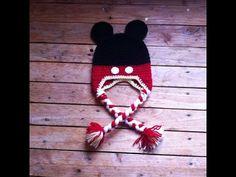 Bonnet mickey au crochet facile   Gorro mickey facil a crochet Bufandas  Tejidas En Crochet a9c7f9fff25