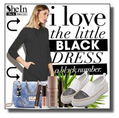 """""""Shein 2/3"""" by dinna-mehic ❤ liked on Polyvore featuring Laura Mercier and Sheinside"""