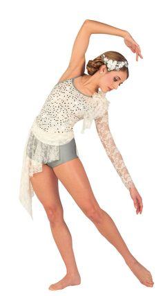 Lyrical dance costume Maybe this one for a dance about accepting a loved one's death?